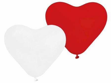 """Balony Premium """"5 Serc"""", czerwone i białe / 5 szt. CR/45-01/5"""