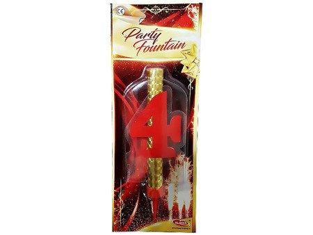 """Fontanna tortowa z cyfrą """"4"""" - DF12CM4"""