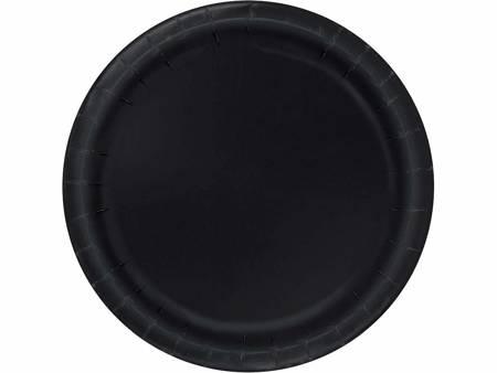 Talerzyki papierowe, czarne, rozm. 18 cm, 8 szt. 3204