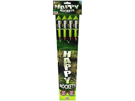 Zestaw rakiet Happy rocket RS4H14 - 4 sztuki